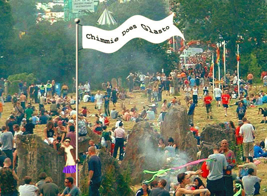 Chimmie's Glastonbury Wise Advice. Chimmie does Glasto and Marc Jolley finally produces something.